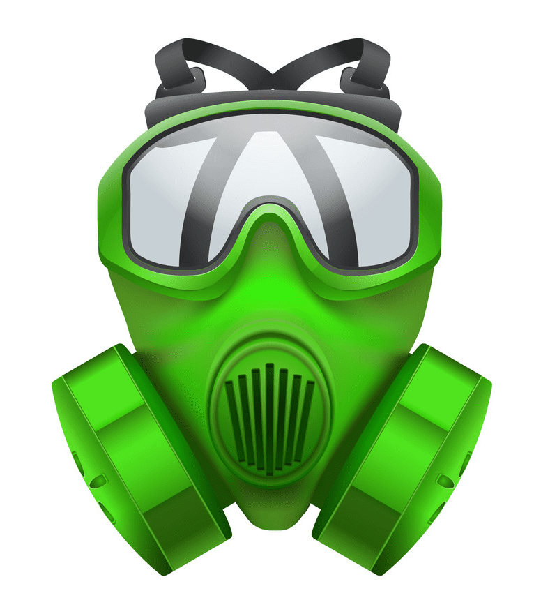 Green Gas Mask clipart