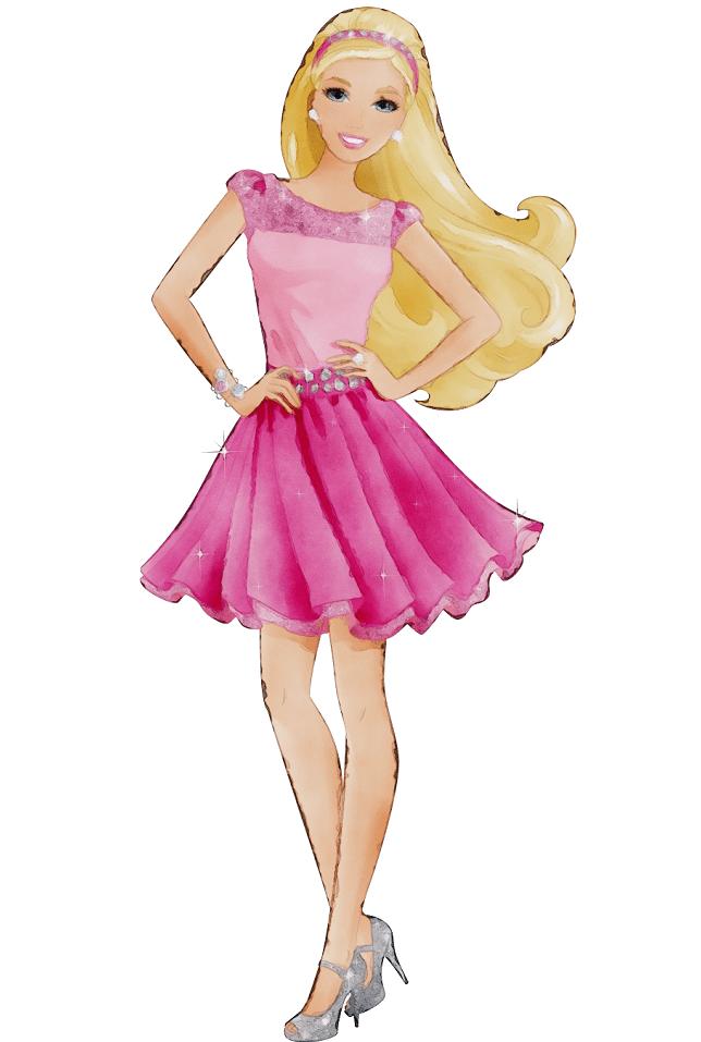 Happy Barbie clipart png