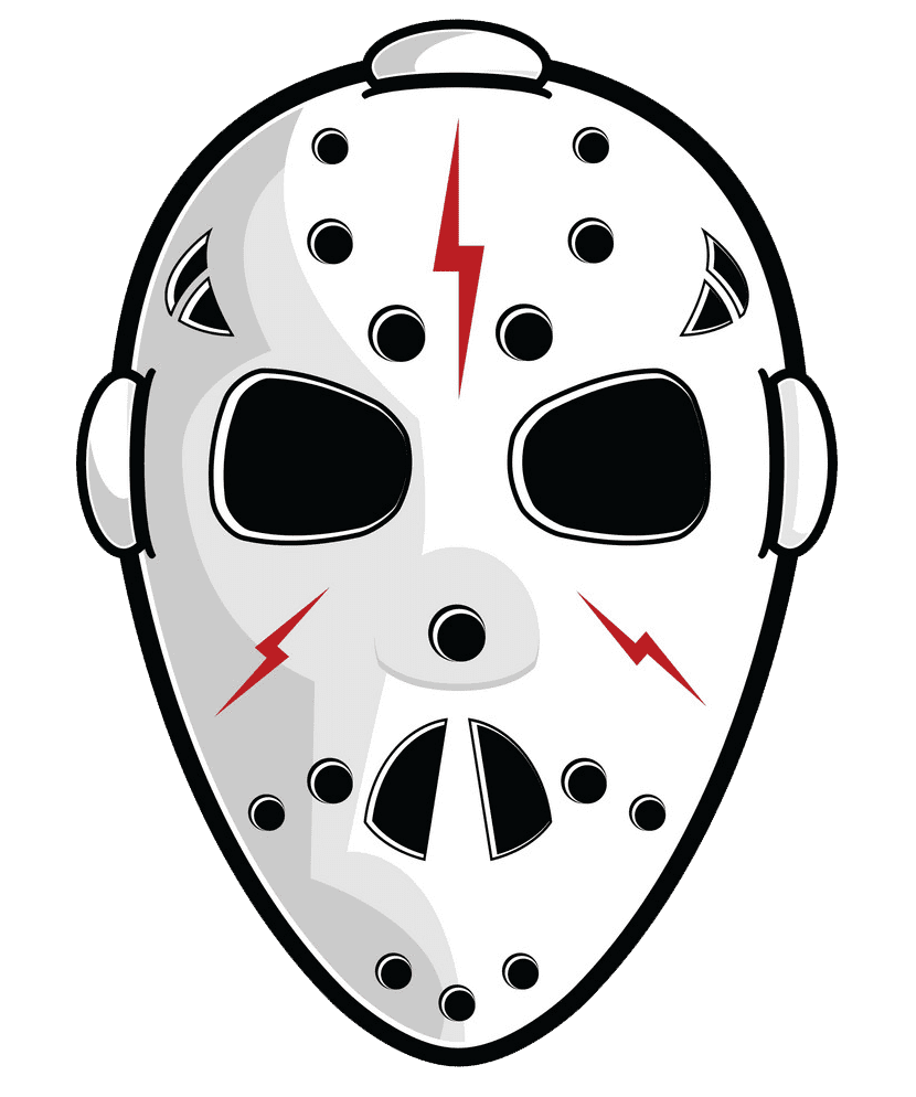 Hockey Mask clipart transparent