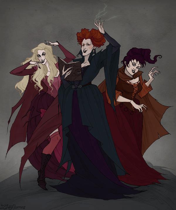 Hocus Pocus Witches clipart 6