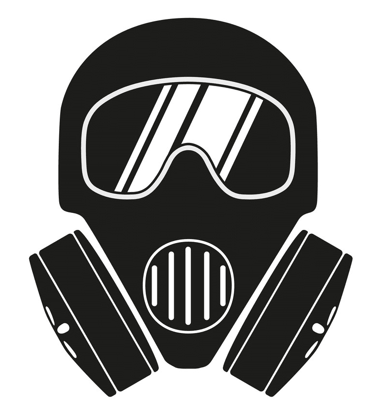 Icon Gas Mask clipart