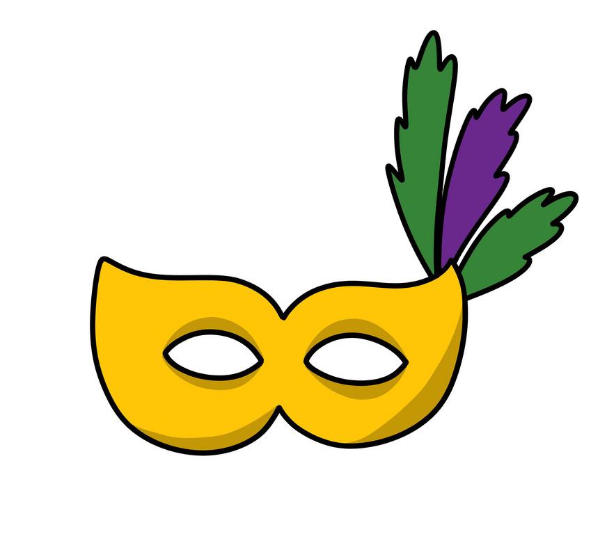 Icon Mardi Gras Mask clipart