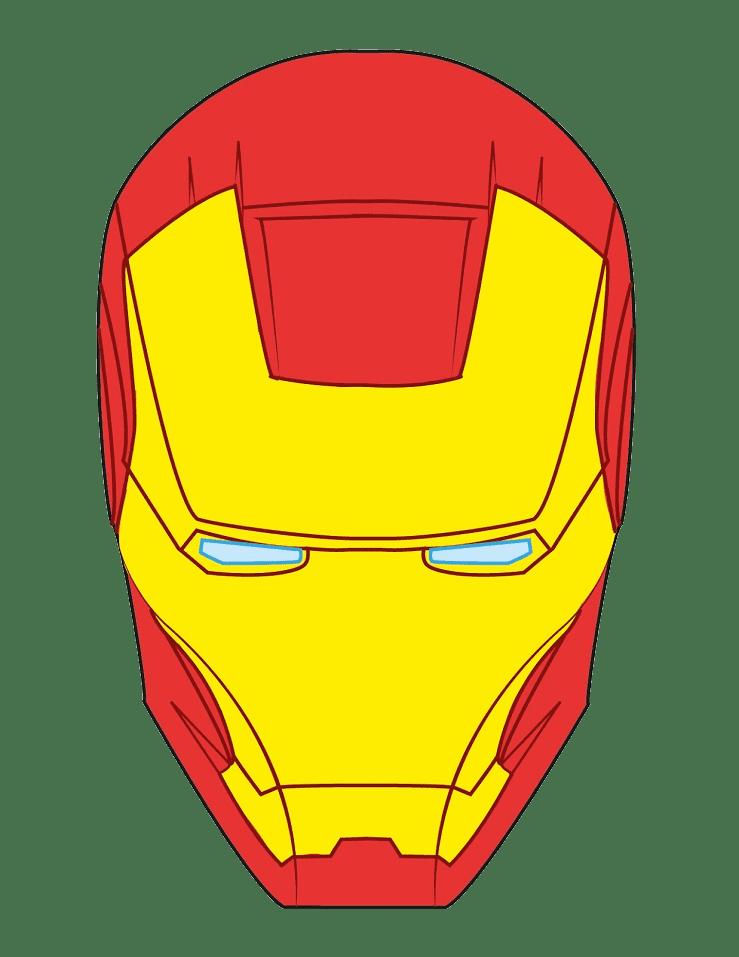 Iron Man Mask clipart transparent 1