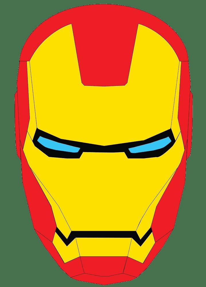 Iron Man Mask clipart transparent
