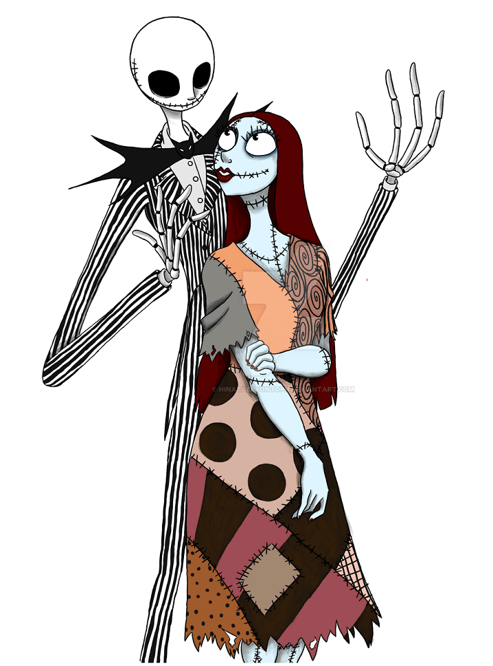 Jack and Sally Nightmare Before Christmas clipart 1