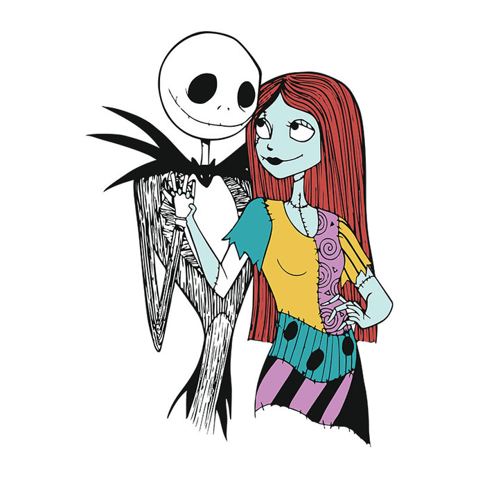 Jack and Sally Nightmare Before Christmas clipart 2