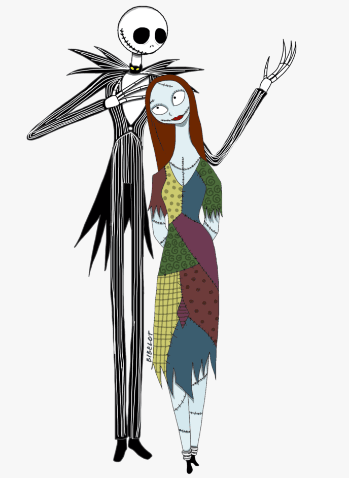 Jack and Sally Nightmare Before Christmas clipart 3