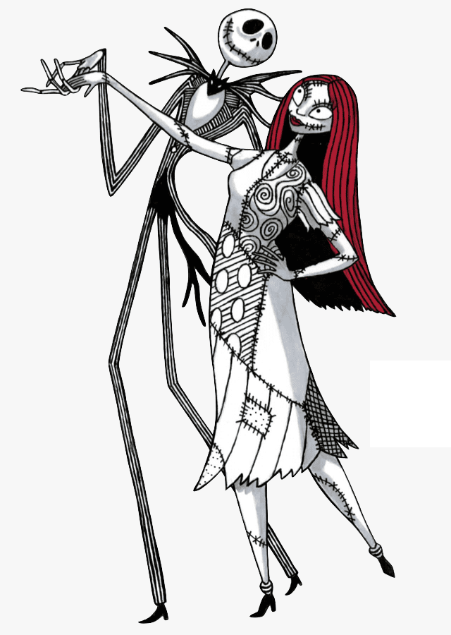 Jack and Sally Nightmare Before Christmas clipart 4
