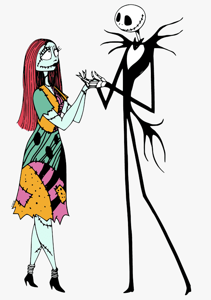 Jack and Sally Nightmare Before Christmas clipart free