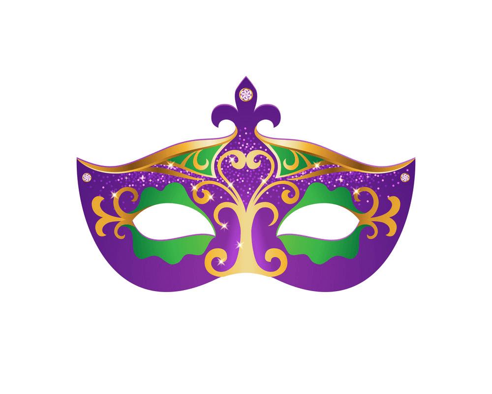 Mardi Gras Mask clipart png