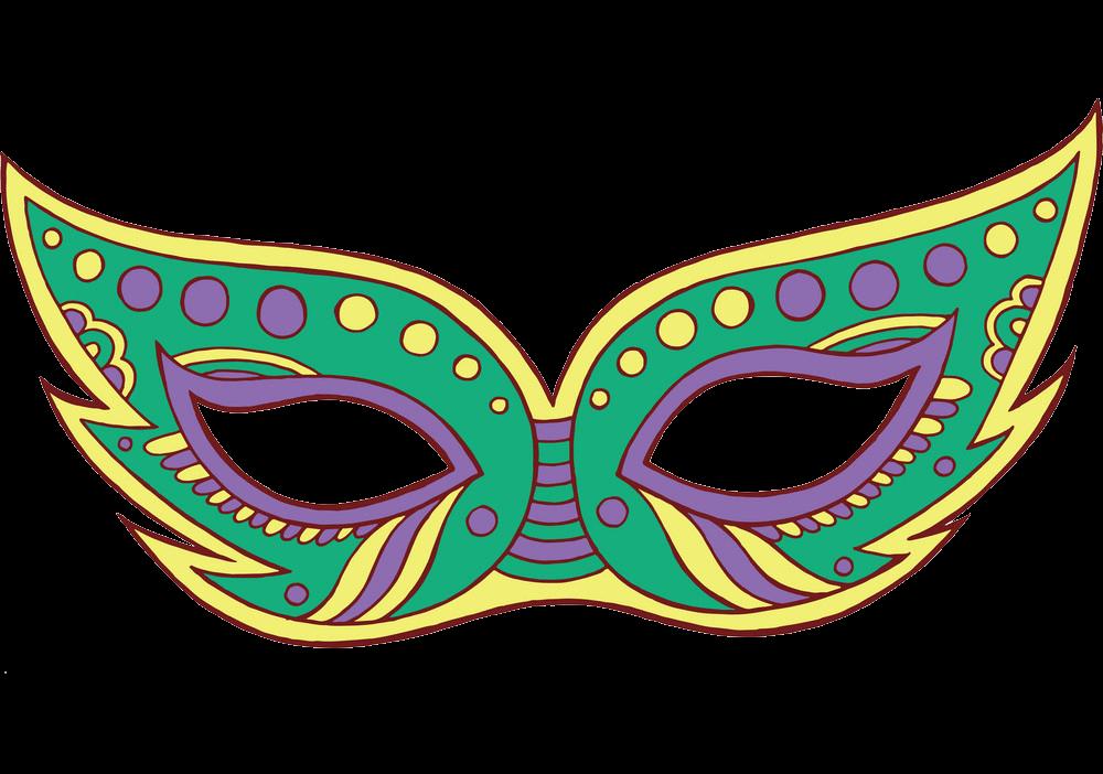 Mardi Gras Mask clipart transparent 1