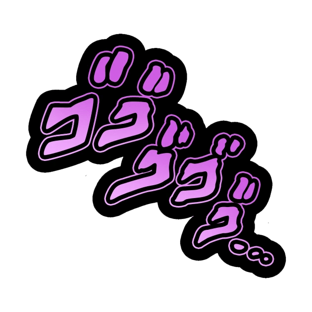 Menacing Jojo transparent 1