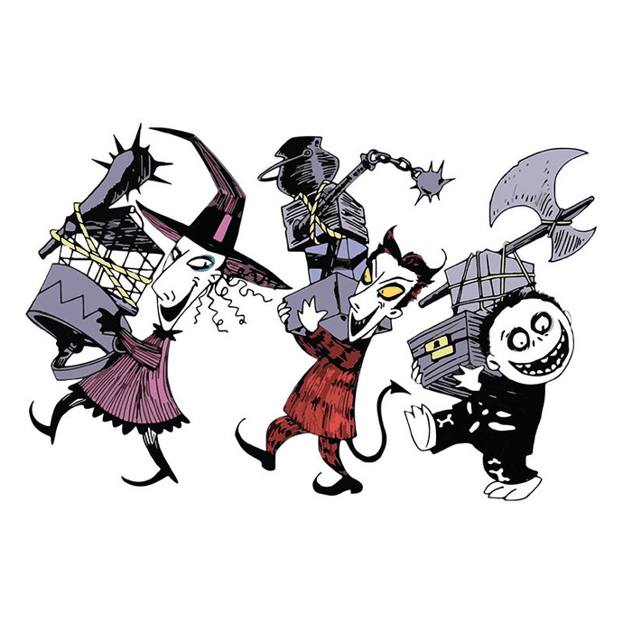 Nightmare Before Christmas Characters clipart png