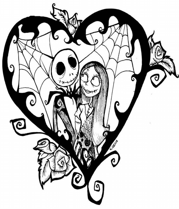 Nightmare Before Christmas Clipart Black and White 3