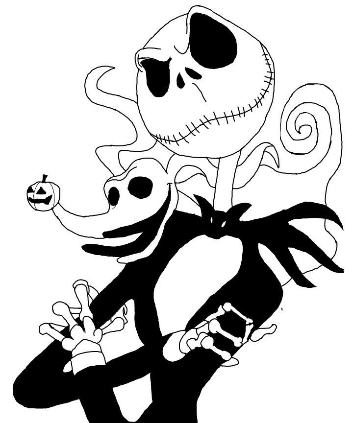 Nightmare Before Christmas Clipart Black and White 4