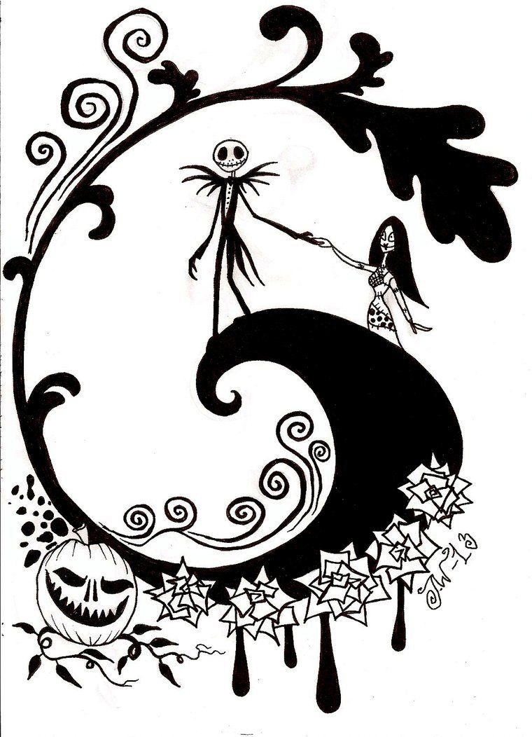Nightmare Before Christmas Clipart Black and White 5