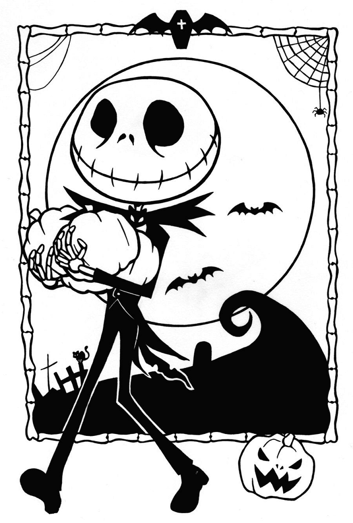 Nightmare Before Christmas Clipart Black and White 6
