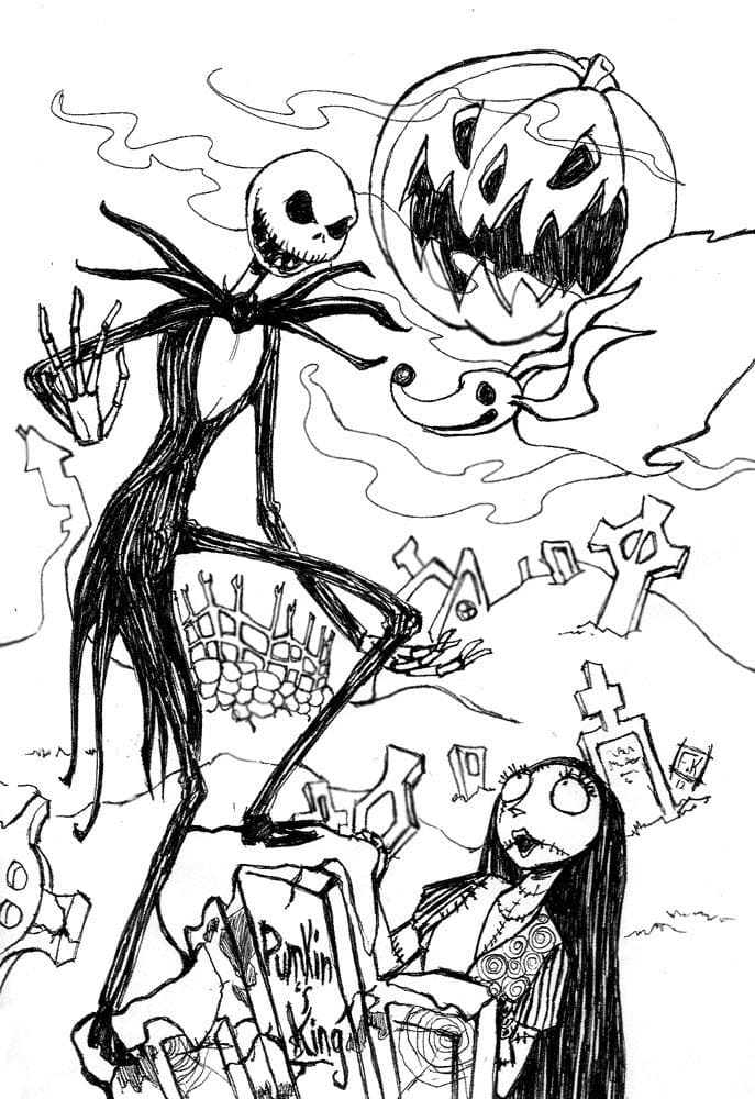 Nightmare Before Christmas Clipart Black and White 8