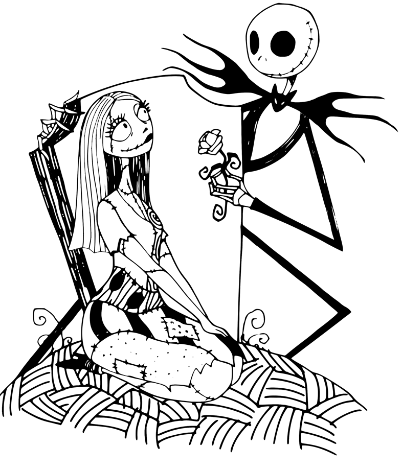 Nightmare Before Christmas Clipart Black and White 9