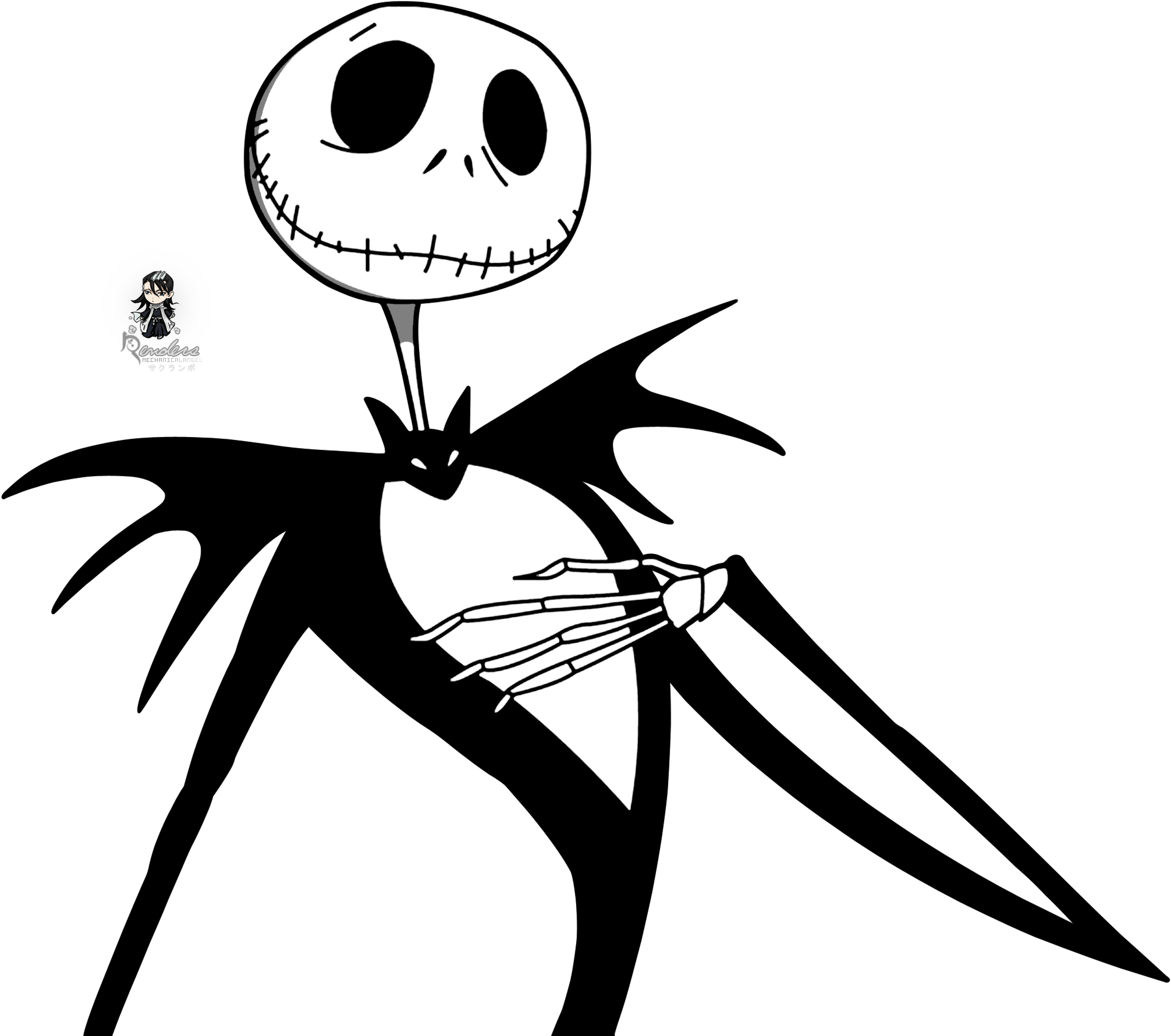 Nightmare Before Christmas Clipart Black and White