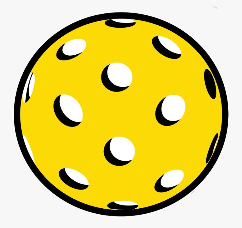 Pickleball Ball clipart free