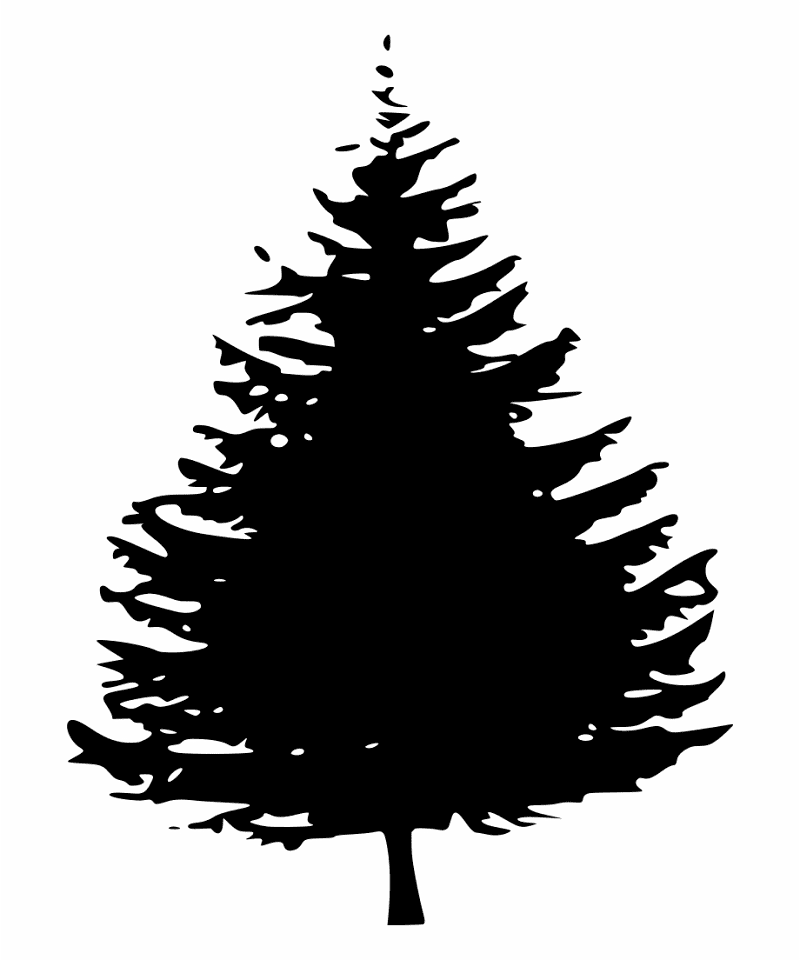 Pine Tree Silhouette clipart 10