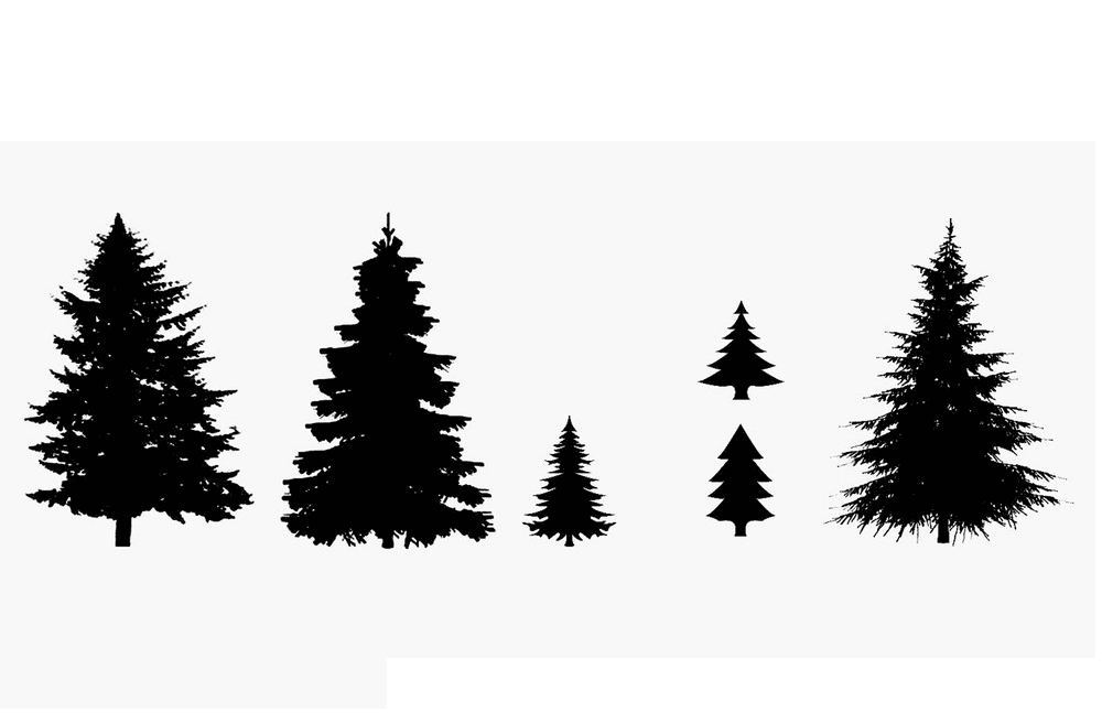Pine Tree Silhouette clipart 2