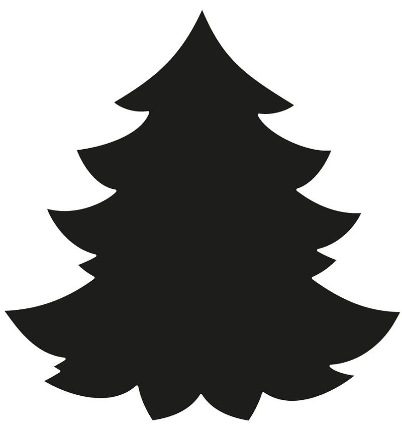 Pine Tree Silhouette clipart 3
