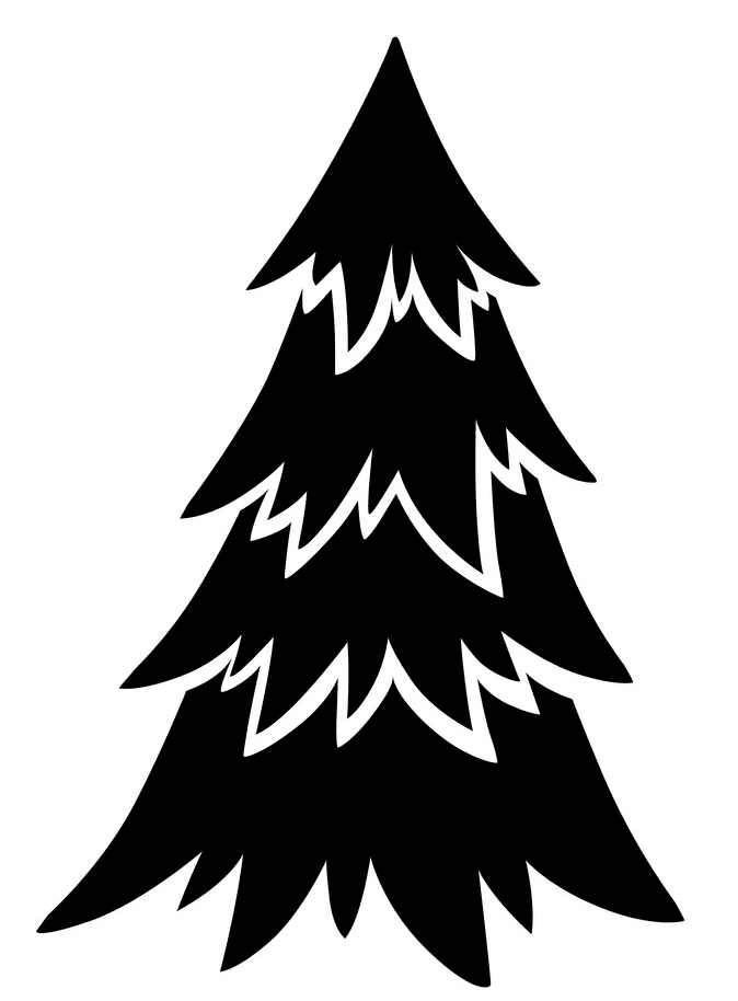 Pine Tree Silhouette clipart 7