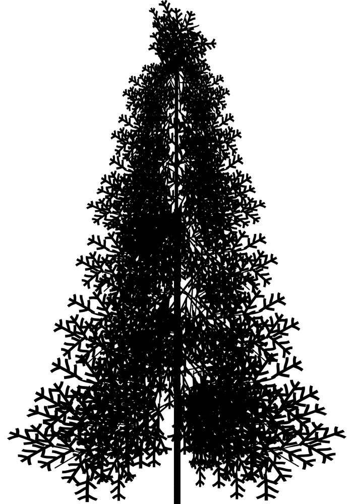 Pine Tree Silhouette clipart 8
