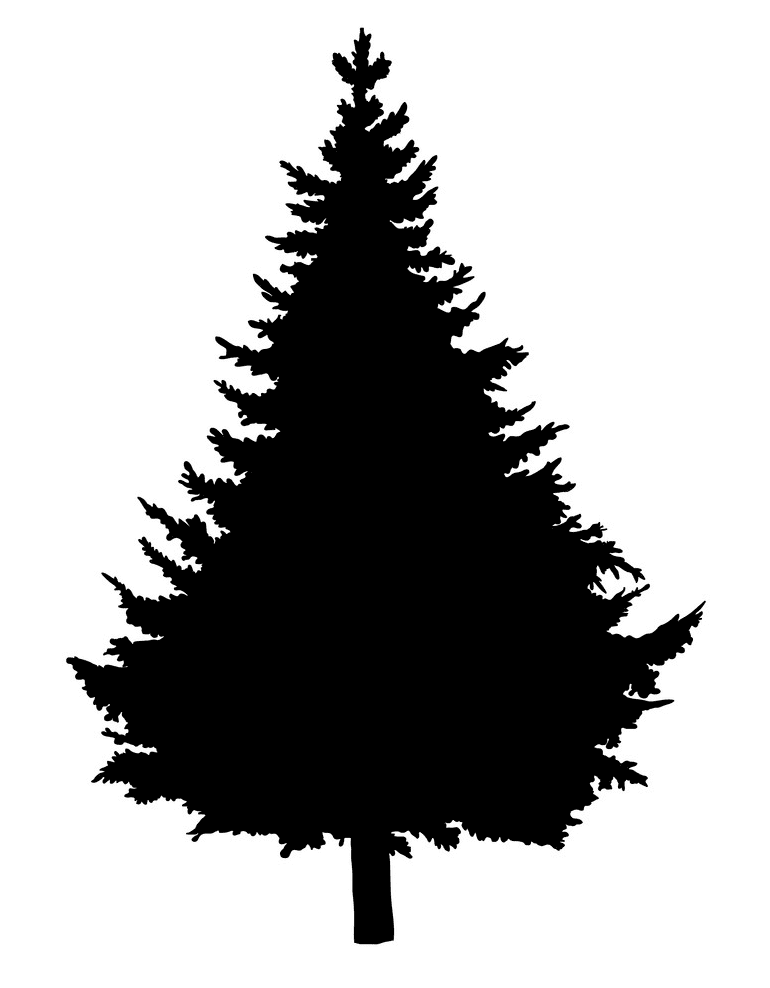 Pine Tree Silhouette clipart png free