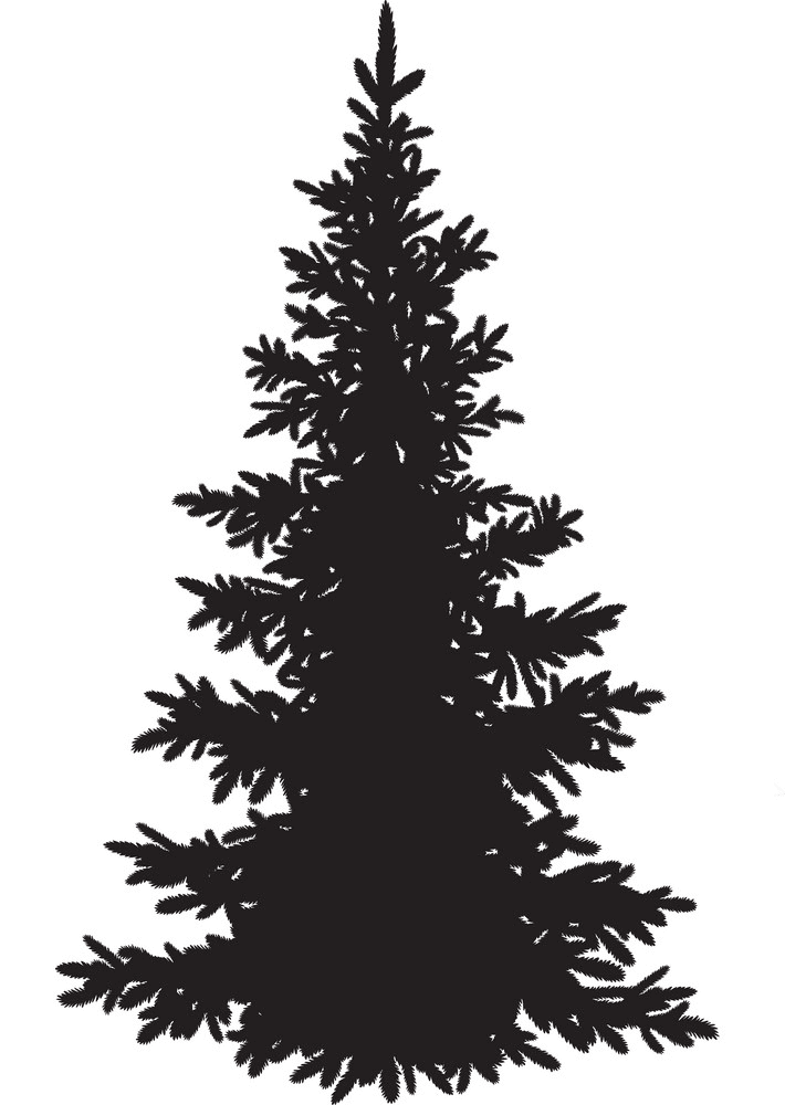 Pine Tree Silhouette clipart