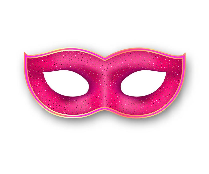 Pink Mardi Gras Mask clipart