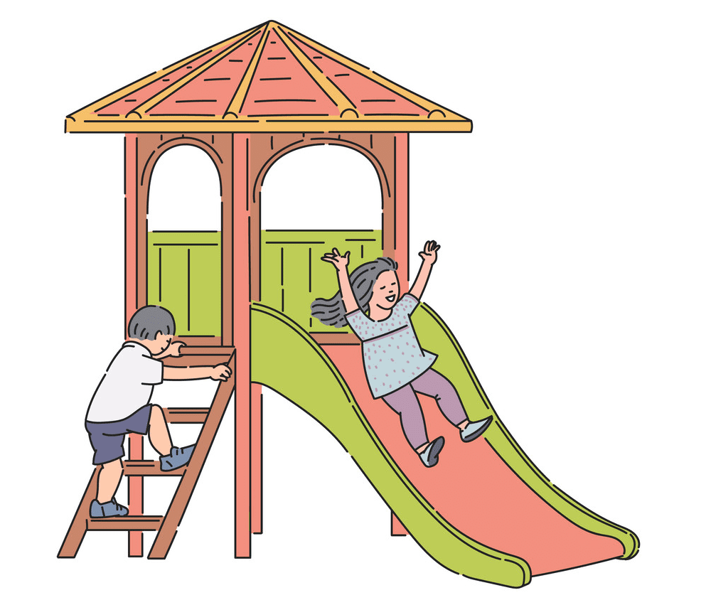 Playground Slide clipart 4