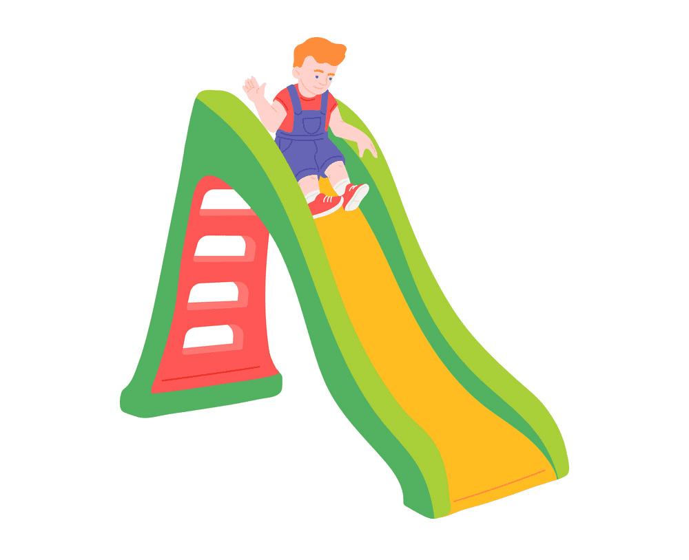 Playground Slide clipart for free