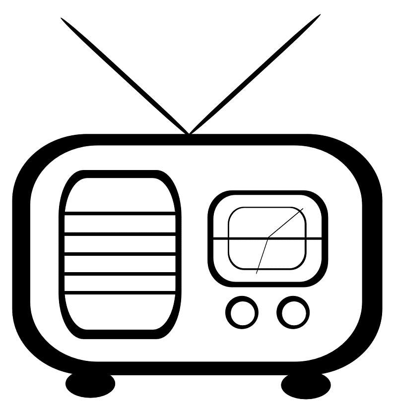 Radio Clipart Black and White 3