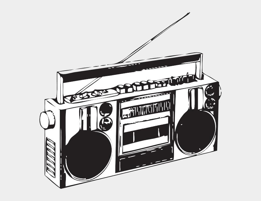 Radio Clipart Black and White 4