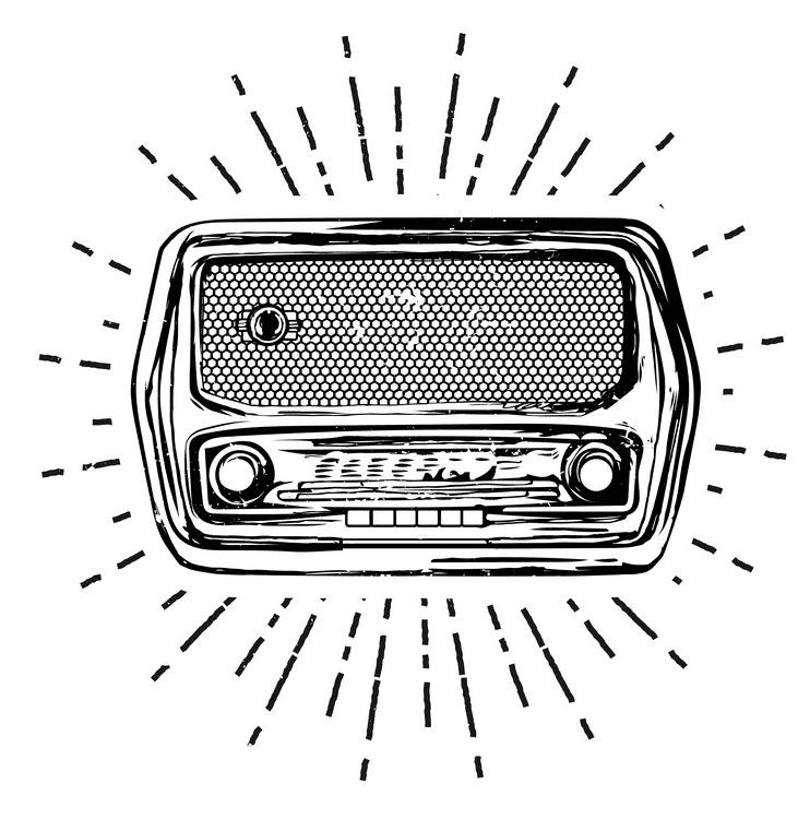 Radio Clipart Black and White 5