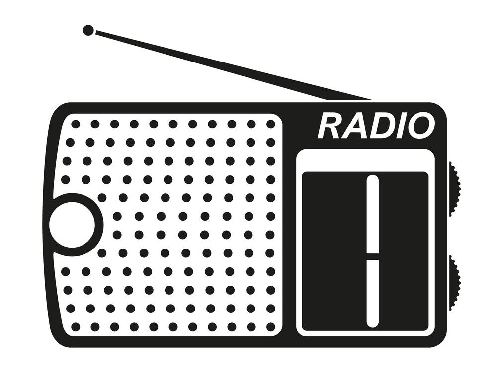 Radio Clipart Black and White free