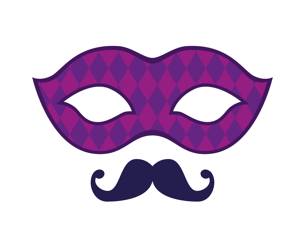 Red Mardi Gras Mask clipart 2