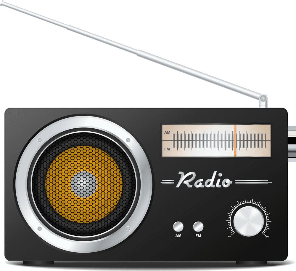 Retro Radio clipart free