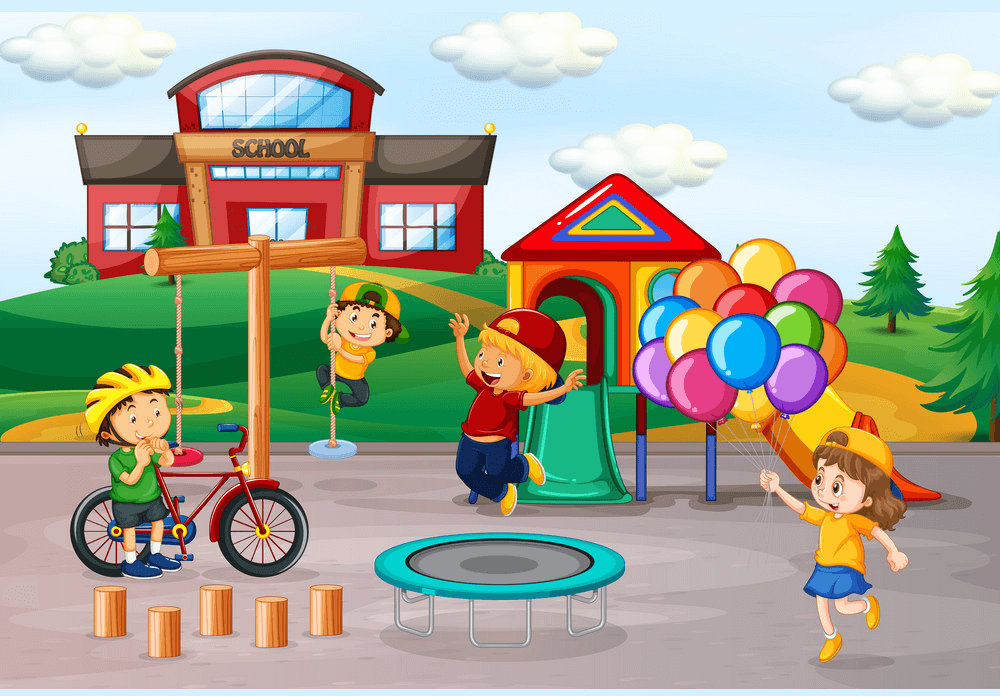School Playground clipart images
