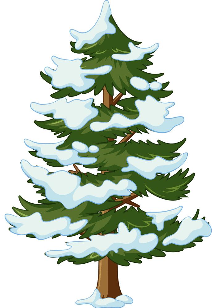 Snow Pine Tree clipart free