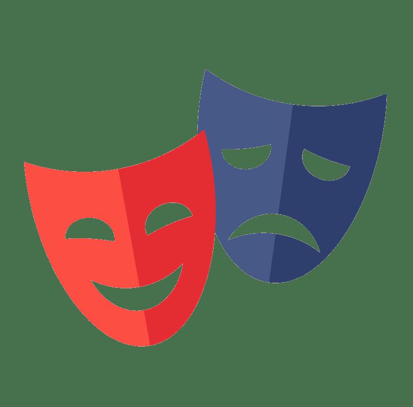 Theatre Mask clipart transparent