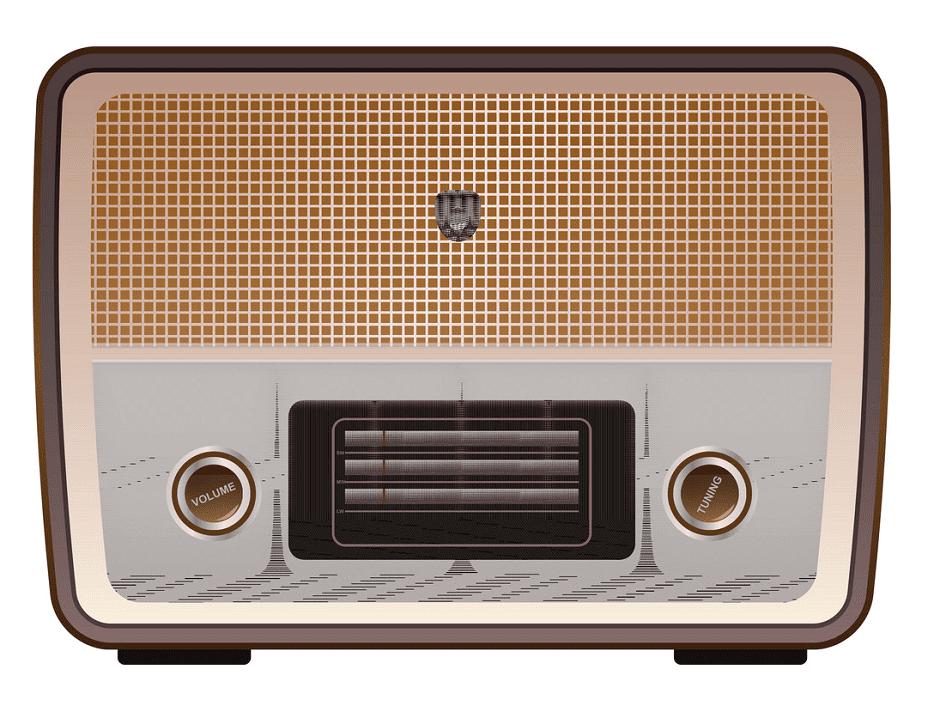 Vintage Radio clipart free