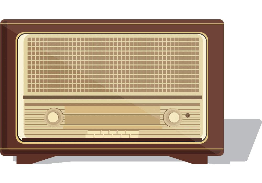 Vintage Radio clipart png