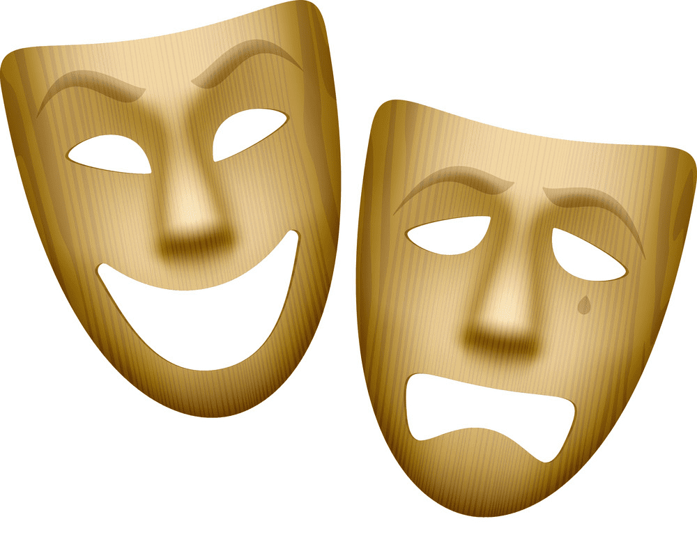 Wooden Theatre Mask clipart