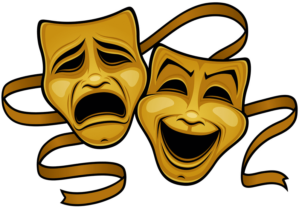 Yellow Theatre Mask clipart