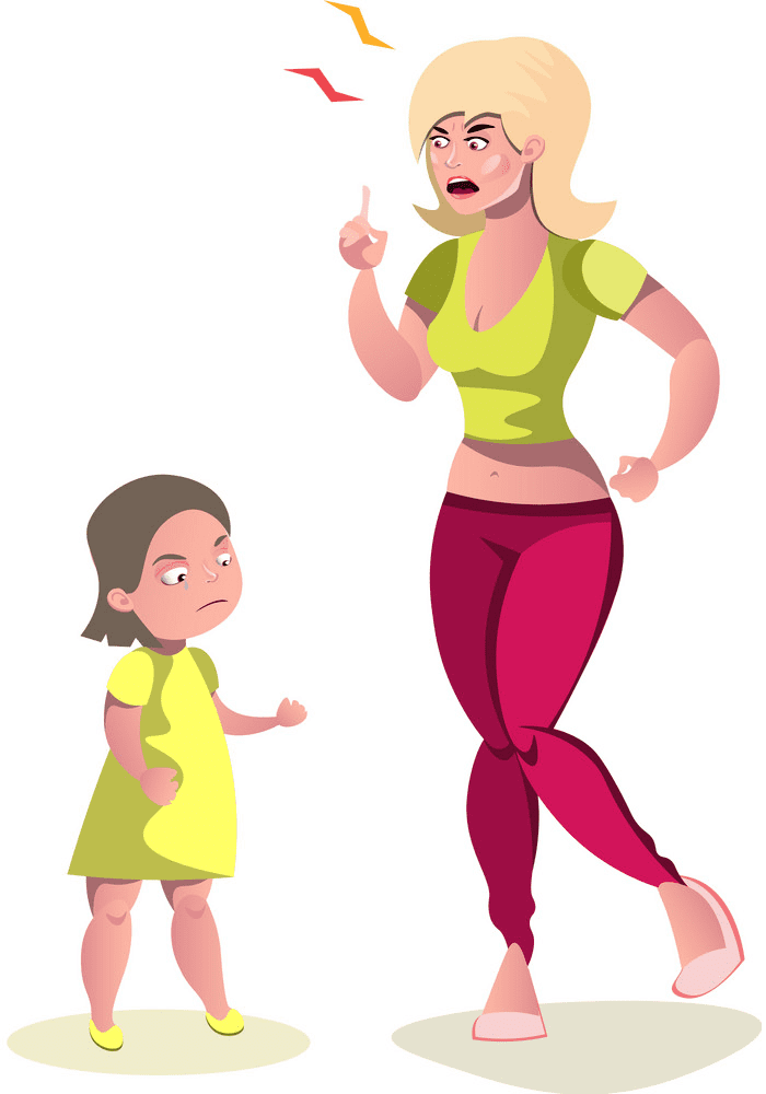 Angry Mom clipart free image