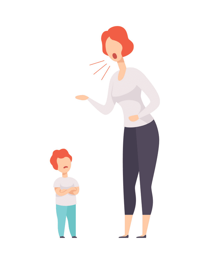 Angry Mom clipart free images
